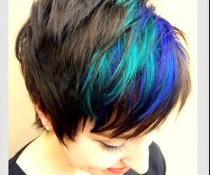 blue hair, cute hair, and green hair image