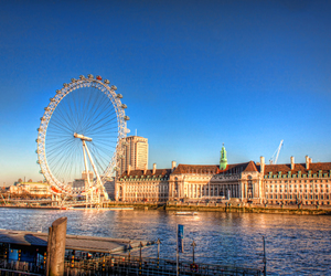 london, london eye, and uk image