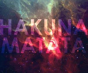 hakuna matata, galaxy, and no image