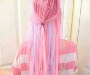 pink, hair, and violet image