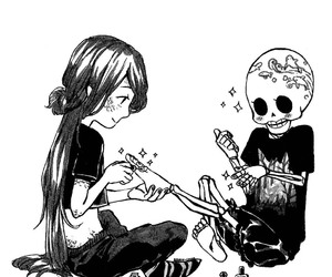 skeleton, skull, and cute image