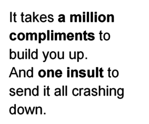 quote, insult, and compliments image