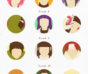 naruto, team 7, and team 8 image