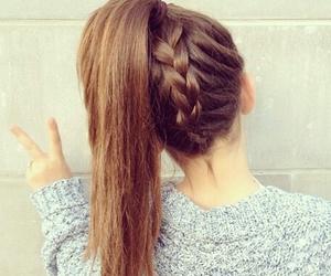 hair, braid, and ponytail image