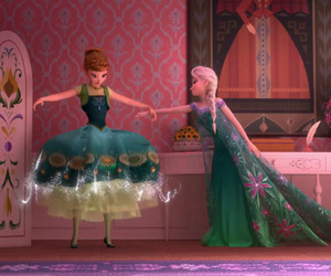 anna, elsa, and disney image