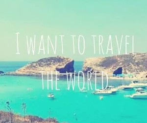Island, travel, and quotes image