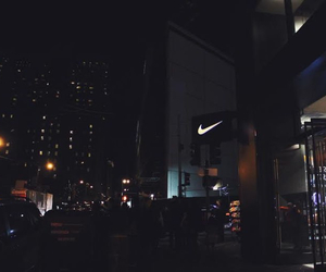 night, nike, and city image