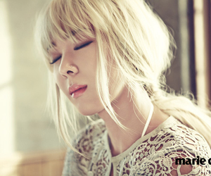 blonde, closed eyes, and marie claire image