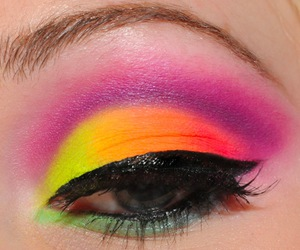 makeup, eyes, and neon image