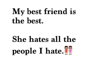 best friends, hate, and friends image