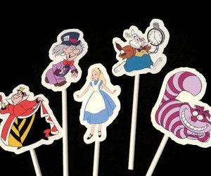 alice in wonderland, birthday party, and mad hatter image
