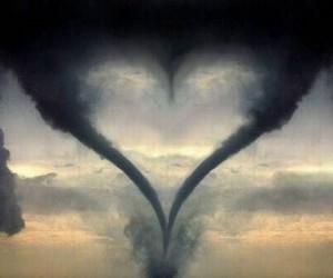 heart and tornado image