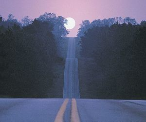 moon, road, and grunge image