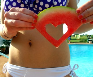 girl, summer, and heart image