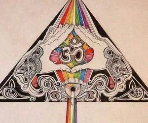 art, om, and rainbow image