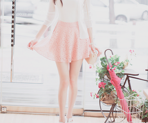girl, pink, and beautiful image