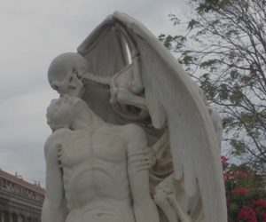 death, pale, and statue image