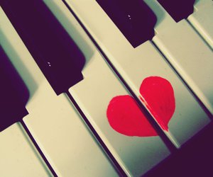 heart and piano image