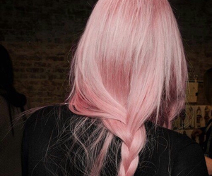 dress, fashionable, and pink hair image