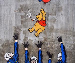 art, winnie the pooh, and graffiti image