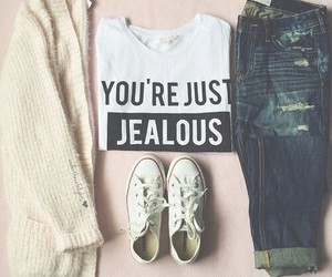 fashion, jealous, and outfit image