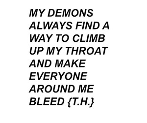 quote, bleed, and demon image
