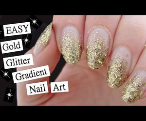 girl, glitter nails, and nail art image