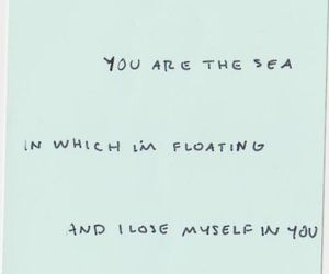 quote, love, and sea image