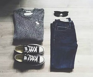 casual, converse, and outfit image