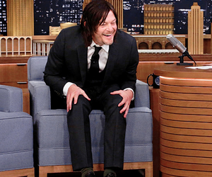 jimmy fallon, laughing, and norman reedus image