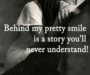 smile, story, and sad image
