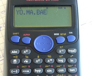 bae, calculator, and fun image