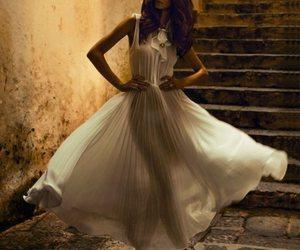 fashion, dress, and white dress image