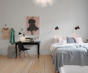 bedroom, art, and office image