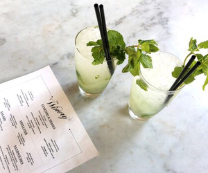 drink, alcohol, and mojito image