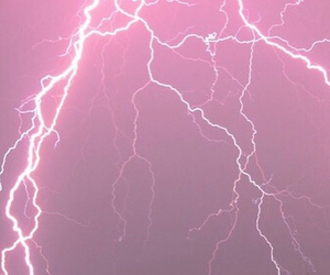 pink, lightning, and grunge image