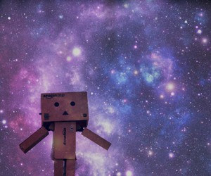 galaxy, danbo, and stars image
