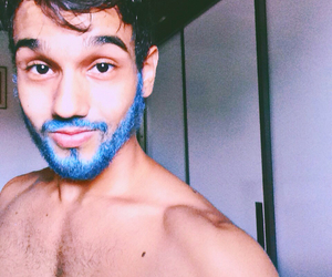 beard, blue, and man image