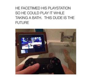 bath, funny, and play image