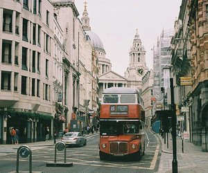 london, bus, and city image