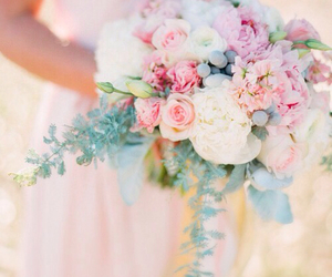 blush, bouquet, and bridal image