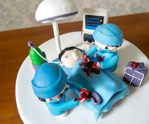 blue, cake, and doctor image