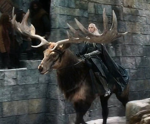 elk, the hobbit, and thranduil image