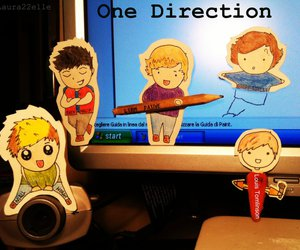 one direction, cute, and cartoon image