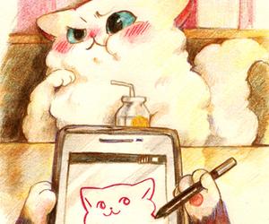 Animales, art, and gatitos image