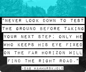 quote, never look down, and taking next step image