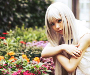 blond, cosplay, and flowers image