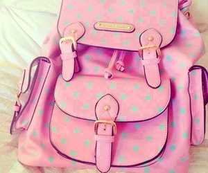 backpack, bag, and pastel image