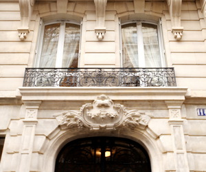 architecture, balcony, and window image