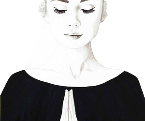 art print, woman, and audrey hepburn image
